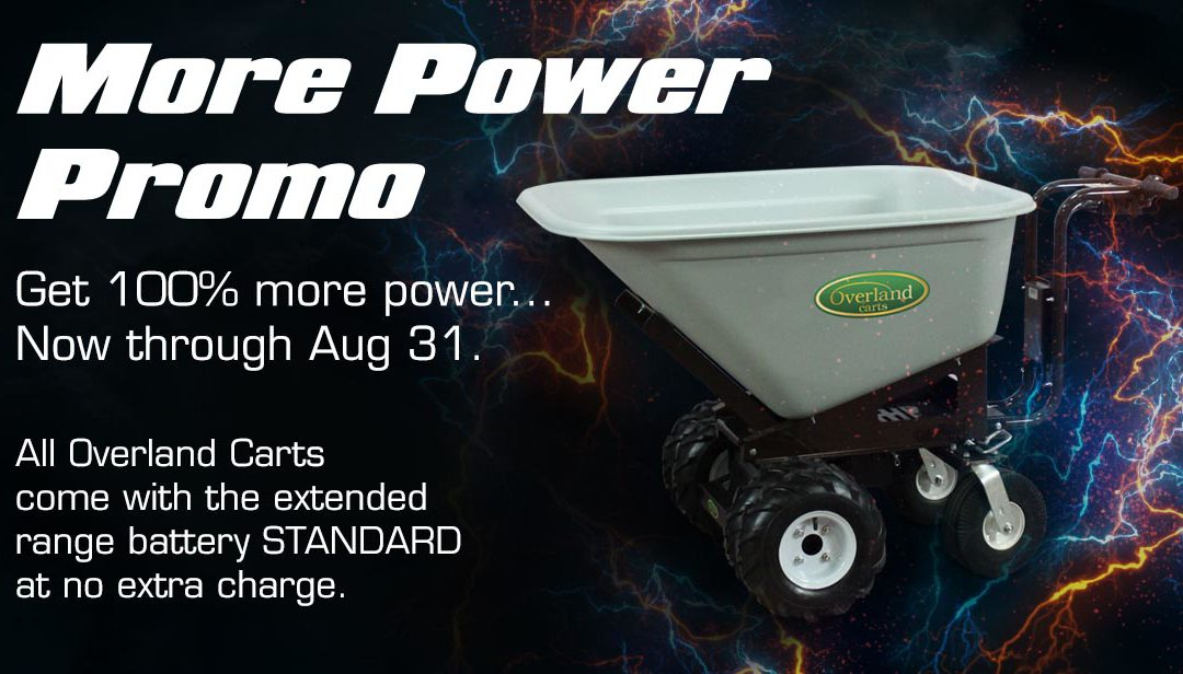 Overland August Promotion: More Power for FREE!