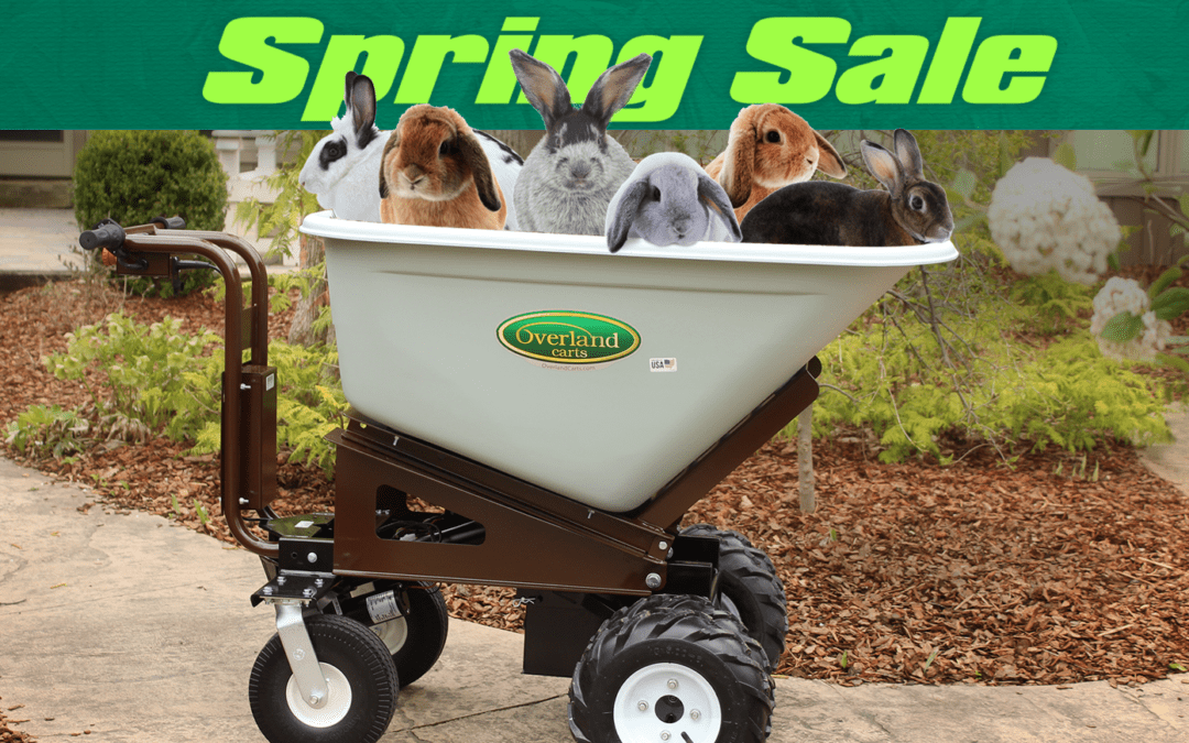 Boost Your Productivity This Spring With Overland Powered Carts!